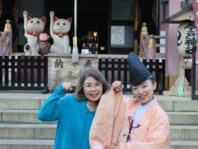 宮司婦人・市野恵子さんと長女・智恵さん